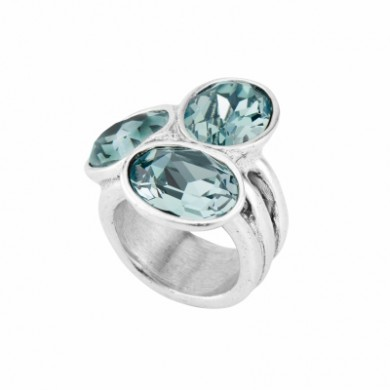 One of 50 women ring plated crystal blue Indian Safire and Montana